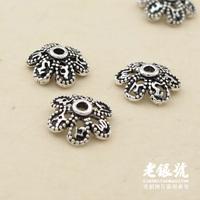 Thai silver 925 8mm cutout pure silver accessories diy accessories a