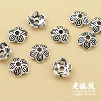 Thai silver 925 6.5mm relief thalami pure silver diy bracelet accessories c