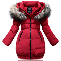 NEW Fashion Girls Winter Duck Down Parkas Warm Outerwear Coat Jacket For Children Kids Clothes TT5353