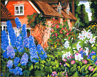 Diy digital oil painting hand painting oil painting flower decorative painting 40 50 lovely