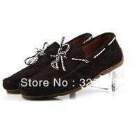 Men's leather driving shoes popular men's boat shoes printing casual shoes lazy shoes