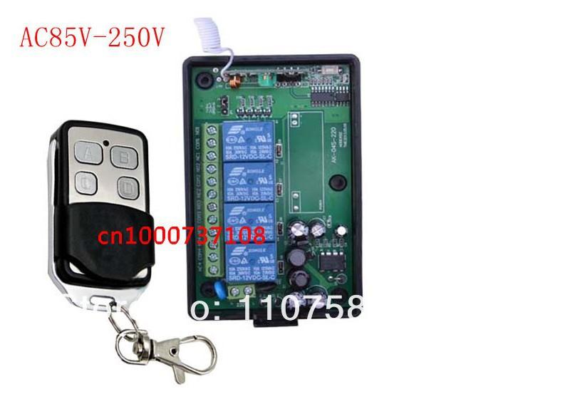 Ac85v250v 110v 220v4ch Rf Wireless Remote Control Relay ...