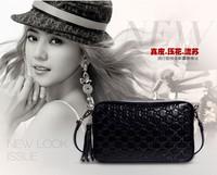 100% Genuine Leather Fashion Desigual Women Messenger Bags High Qaulity Lady Fringe Handbags Famous Brands Bolsas Black 2014 New