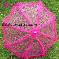 Hot Wholesale!!! Free Shipping Fashion Lace Design Wedding Umbrella Bridal Umbrella