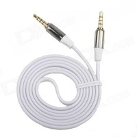 AYA-043 3.5mm TRRS Jack Male to Male Shielded Flat Audio Cable - White (110cm)  Free Delivery