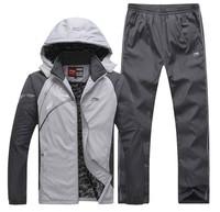 Hot! 2013 new Li Ning sportswear Outerwear Jackets suit men's outdoor warm winter plus thick velvet hooded Free Shipping