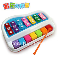 Small music xylophone beat the violin toy hand knocking piano baby percussion instruments toy free shipping