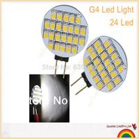 2 pieces G4 Base 24 LED RV Camper Marine Warm white Light Bulb Lamp 12V DC