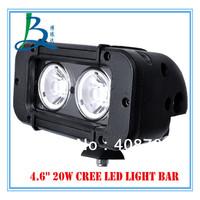 20w cree single row led lighting bars