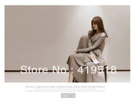 2013 Autumn Winter Season Is The New Women's Dress Shoulder Cultivate One's Morality Long-Sleeved Dress Fashionable Dress