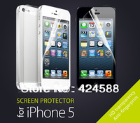 10x Clear Full Body Front Screen Protector for iphone 5 5s drop shipping