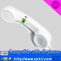 Colorful Retro telephone headset wired bluetooth earphone with tron and noice cancelling voice
