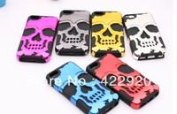 Hybrid Skull Skeleton Bone Hard Chrome&Soft Silicone Detachable Case Cover For iPhone 5C