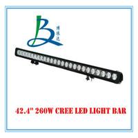 LED light bar LED off road light 260W 10W*26pcs CREE led light bar