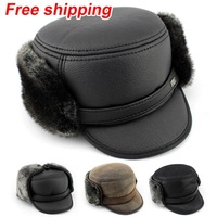 Winter hat 2013 new ear protector cap bomber Hats for men windproof Russian old man hats warm hat Free Shipping