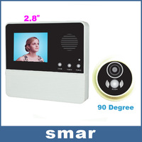 2.8 Inch LCD Digital Door Peephole Viewer 90 Degrees Camera Photo With Doorbell Free Shipping