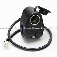 Free shipping new universal Motorcycle Handlebar Plug 12V Power Socket Cigarette Lighter mount holder for mobile phone GPS