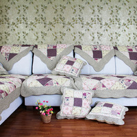 Rustic american spring and summer 100% cotton quilting sofa cushion sofa towel sofa set piaochuang pad cushion