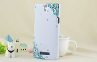 10pcs Diamond Bling Blue Dargonfly jewels Crystal Cover Case for OPPO Find 5 X909 Free shipping