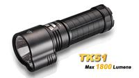 Fenix TK51 2 x CREE XM-L2 1800LM 2-Group Dual-Light Memory White LED Flashlight-Black(3x18650/6xCR123)