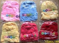 wholesale 12pcs/lot newborn baby hat winter cap  hand made knitted crochet wollen soft  hat 0-3 months