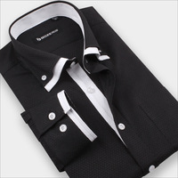 New Arrival Men Long Sleeve Double Collar Shirts High Quality Dress Shirts For Men With Long Sleeve