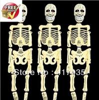 1 set Halloween haunted house decoration supplies bar KTV props terrorist music skeleton big ghost electric crane frame