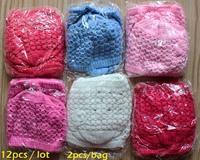 12pcs/lot wholesale  baby hat newborn  0-3 months winter cap  hand made knitted crochet wollen soft  hat