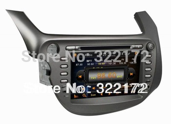 8 Inch Car Radio Audio DVD Player GPS Bluetooth TV iPod For Honda New FIT 2009~2011 Free Shipping