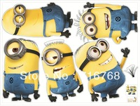 5 Minions Despicable Me 2 Wall stickers Wall Decal Removable Art Home Mural Deco [Top-Me]-TM1404