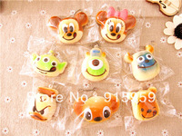 16pcs/lot original package new 8 Design  5 cm cartoon squishy cute  Cell Phone Charm squishies buns free shipping wholesales