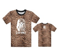 Floral Leopard Last Kings T-Shirt Hip Hop Short sleeve Round Neck Brand New Men's Clothing Sweatshirts Streetwear Free Shipping