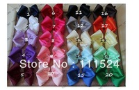 4inch girl hair Bow 30pcs/lot hair clips Soft Stretchy Hairband Baby Ribbon hair accessory free shipping