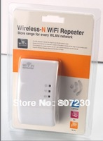 Hot Sale New 300MBPS WPS Wireless N Wifi Repeater 802.11B/G/N Router Range Expander 300M 2dBi Antennas with US/EU/AU/UK Plug