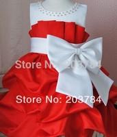 1 pcs/lot NEW Arrival 2013 children dress girls High-grade Princess dress chiffon Big bowknot dresse for summer AA700