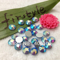 2028 BLING Light Sapphire AB Color Flatback Glass Stone Beads (Non Hotfix) Silver Foiled Back SS6 SS10 SS16 SS20 SS30