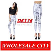 WHOLESALE Women Leggings HILLS OF GONDOR WHITE Printed Skinny Jeans Casual Elastic Fitness Black Milk leggings DK176