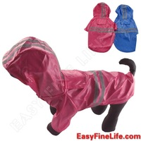 Dogloveit Waterpoof Pet Puppy Cat Dog Clothes High Quality Pu Leather Dog Raincoat with Hood XS S M L XL