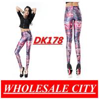 WHOLESALE Casual Women Leggings FIRST CONTACT SUCKS Printed Pencil Pants Super Elastic Fitness Sky Leggings DK178