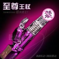 Rechargeable Waterproof 8 Speed Rotating Beads Jack Rabbit Vibrator,36 Speed Vibration Dildo,Female Masturbation Sex Toys