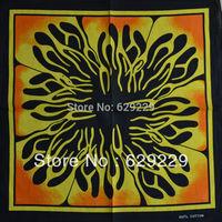 "stamen tentacles flame 100%Cotton hiphop rap bboy Bandana wrap scarf wristb Headband 22""*22"" Free Shipping"