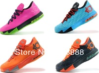 2013 New Arrival 16 Colors Swingman Kevin Durant KD VI 6 Basketball Shoes Low, KD 6 VI Athletic Shoes Free Shipping