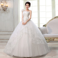 Special offer Princess sweetheart floor-length satin flowers Wedding Dresses # HS6298