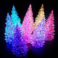 2pcs Novelty Colorful dream crystal christmas tree night light colorful Christmas small gift Free shipping Free shipping