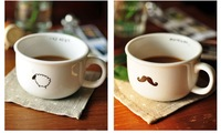 Promotional ! Creative cute cartoon ceramic mug, ceramic cup clear series.