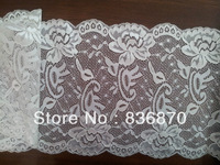 (21cm width) top grade white spring elastic Swiss lace nice pattern Wedding Gown French Lace Fabric Chantilly Rachel Lace trim
