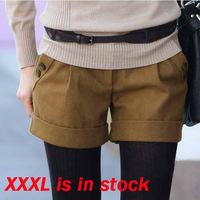 Size S-XXXL Autumn/Winter Women Fashion Slim All match Wool Bootcut Shorts Free Shipping LJ771