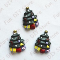 18*25mm resin Chirstmas tree flat back cabochon for decoration free shipping 50pcs/lot