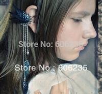 Wholesale Angel Wings Long Ear Hook Clip Earring Fashion Accessories