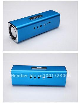 Free Shipping Mobile Speaker Original TFcard Portable Speaker,100% High Quality+Mini Round Speaker+Gift box Pack